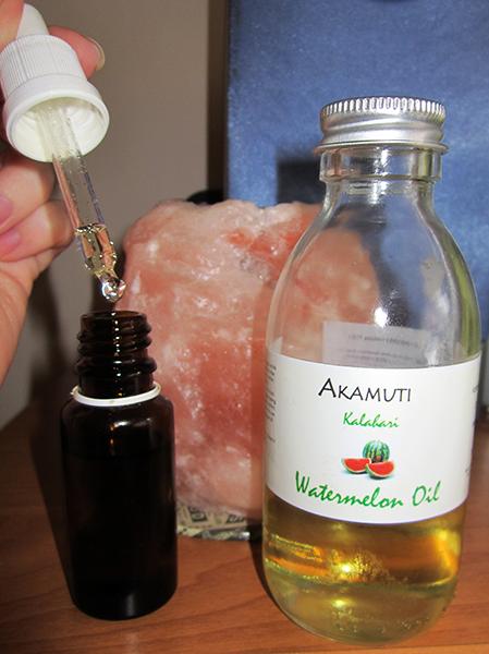 melonovy olej flasky