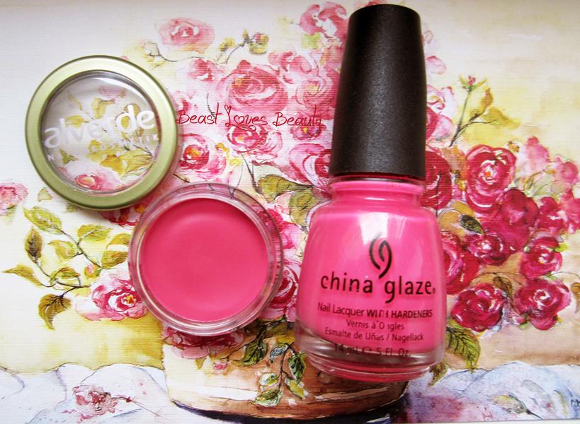 alverde pretty pink, china glaze sexy lady