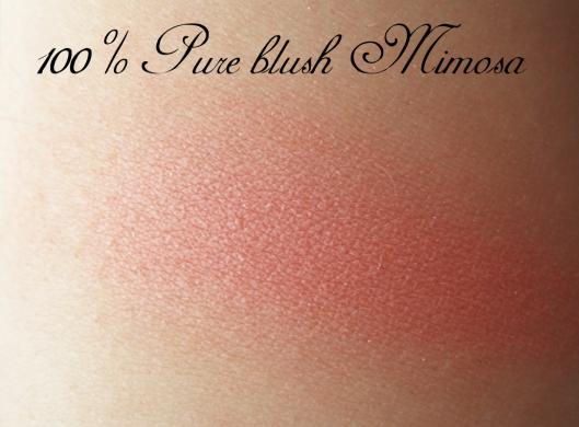 100% pure mimosa blush