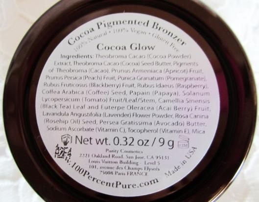100 percent pure cocoa glow bronzer ingredients